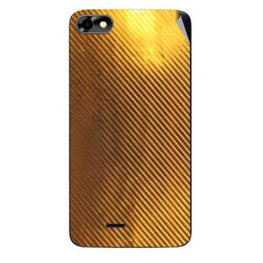 Snooky 44361 Mobile Skin Sticker For Micromax Micromax Bolt D321 - Golden
