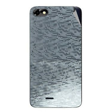 Snooky 44369 Mobile Skin Sticker For Micromax Micromax Bolt D321 - silver