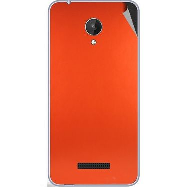Snooky 44378 Mobile Skin Sticker For Micromax Micromax Canvas Spark Q380 - Orange