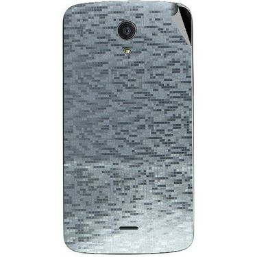 Snooky 44513 Mobile Skin Sticker For Xolo Omega 5.0 - silver