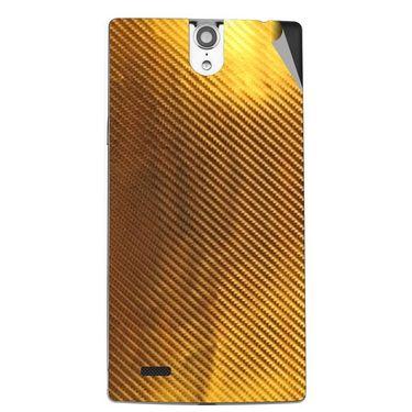 Snooky 44661 Mobile Skin Sticker For Xolo Q1010i - Golden