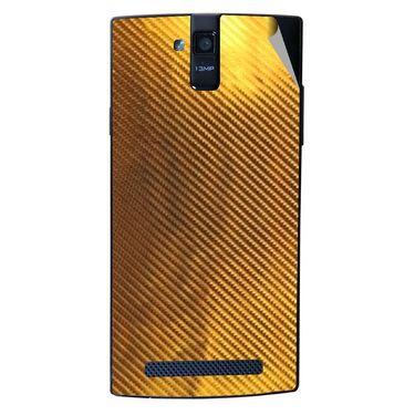 Snooky 44685 Mobile Skin Sticker For Xolo Q2000 - Golden