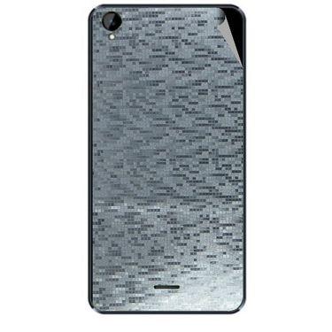 Snooky 44705 Mobile Skin Sticker For Xolo Q2000L - silver
