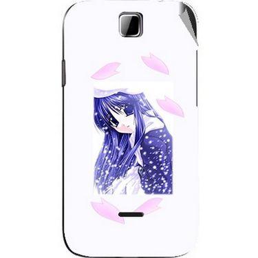 Snooky 45903 Digital Print Mobile Skin Sticker For Micromax Ninja 3.5 A54 - White
