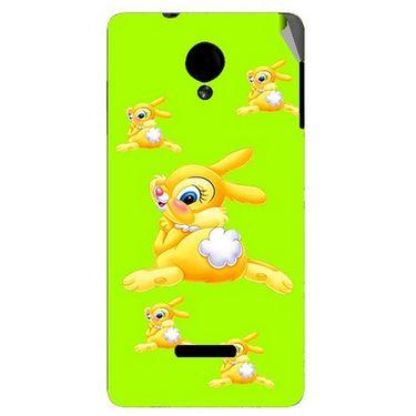 Snooky 45923 Digital Print Mobile Skin Sticker For Micromax Canvas Fun A74 - Green
