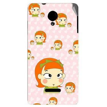 Snooky 45939 Digital Print Mobile Skin Sticker For Micromax Canvas Fun A74 - Orange