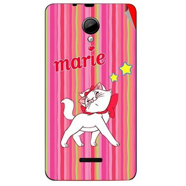 Snooky 45953 Digital Print Mobile Skin Sticker For Micromax Canvas Fun A76 - Pink