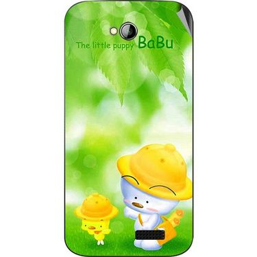 Snooky 45978 Digital Print Mobile Skin Sticker For Micromax Bolt A089 - Green
