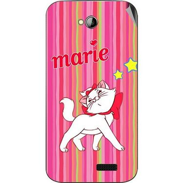 Snooky 45985 Digital Print Mobile Skin Sticker For Micromax Bolt A089 - Pink