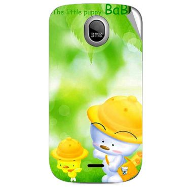 Snooky 46010 Digital Print Mobile Skin Sticker For Micromax Ninja A89 - Green