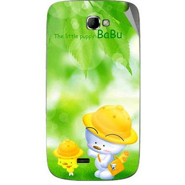 Snooky 46074 Digital Print Mobile Skin Sticker For Micromax Canvas Engage A091 - Green