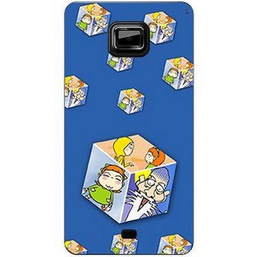 Snooky 46128 Digital Print Mobile Skin Sticker For Micromax Ninja A91 - Blue
