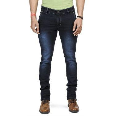 Pack of 2 Blended Cotton Slim Fit Jeans_101161 - Light & Dark Blue