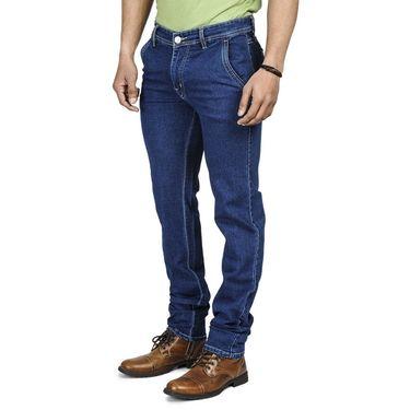 Pack of 2 Blended Cotton Slim Fit Jeans_5021060 - Blue