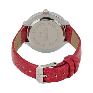 Exotica Fashions Analog Round Dial Watch For Women_Efl27w52 - White & Silver