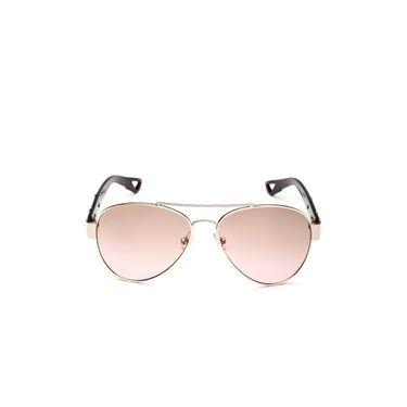 Alee Metal Oval Unisex Sunglasses_134 - Light Pink
