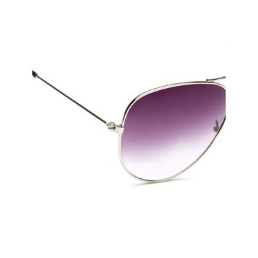 Alee Metal Oval Unisex Sunglasses_145 - Purple