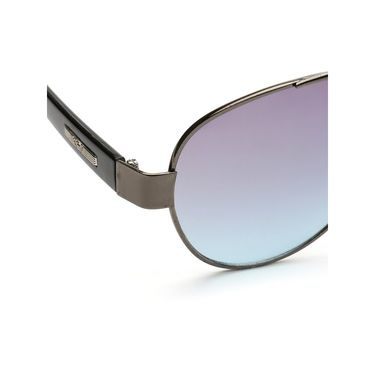 Alee Metal Oval Unisex Sunglasses_178 - Blue