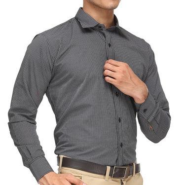 Rico Sordi Full Sleeves Stripes Shirt_R001f - Black