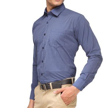 Rico Sordi Full Sleeves Stripes Shirt_R003f - Blue