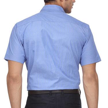 Rico Sordi Half Sleeves Stripes Shirt_R004hs - Blue