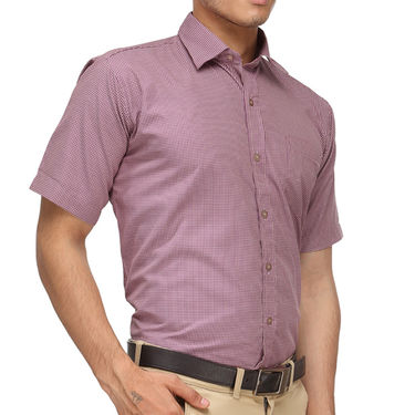 Rico Sordi Half Sleeves Checks Shirt_R008hs - Grey