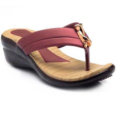Azores Womens Maroon Sandals -Azf_Mb