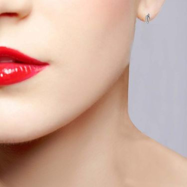 Avsar Real Gold and Swarovski Stone Jostna Earrings_Ave008wb