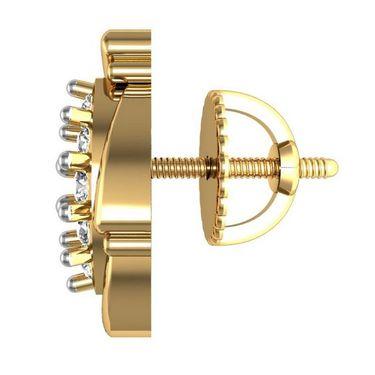 Avsar Real Gold and Swarovski Stone Tejsvi Earrings_Ave012yb
