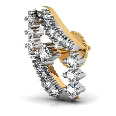 Avsar Real Gold and Swarovski Stone Kolakatta Earrings_Ave0181yb