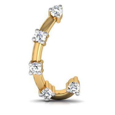 Avsar Real Gold and Swarovski Stone Ankita Earrings_Bge020yb