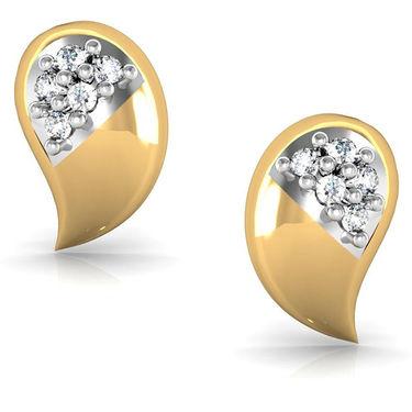 Avsar Real Gold and Swarovski Stone Anjali Earrings_Bge021yb