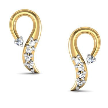 Avsar Real Gold and Swarovski Stone Aarohi Earrings_Bge024yb