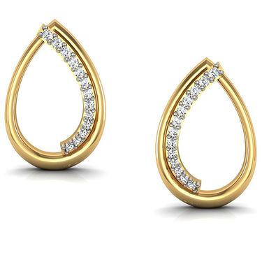 Avsar Real Gold and Swarovski Stone Suchita Earrings_Bge025yb