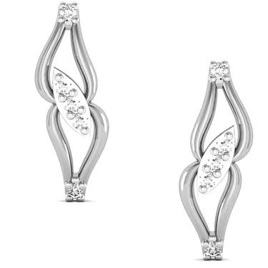 Avsar Real Gold and Swarovski Stone Manjiri Earrings_Bge035wb