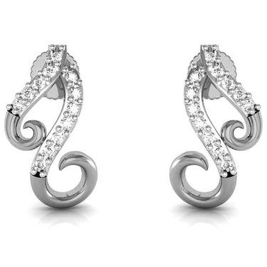 Avsar Real Gold and Swarovski Stone Deepika Earrings_Bge052wb