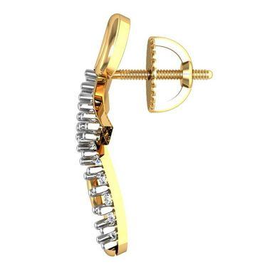 Avsar Real Gold and Swarovski Stone Vedika Earrings_Bge054yb