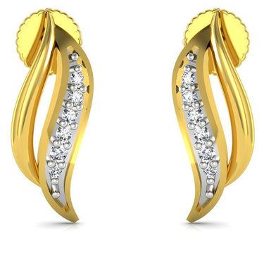 Avsar Real Gold and Swarovski Stone Divya Earrings_Bge060yb