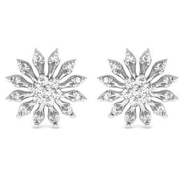 Avsar Real Gold and Swarovski Stone Radhika Earrings_Bge069wb