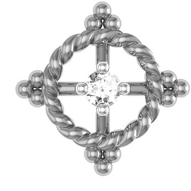 Avsar Real Gold and Swarovski Stone Varsha Earrings_Uqe026wb