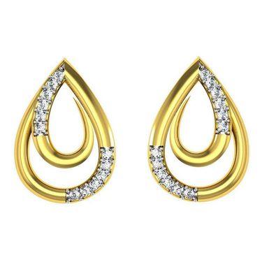 Avsar Real Gold and Swarovski Stone Deepti Earrings_Tae009yb