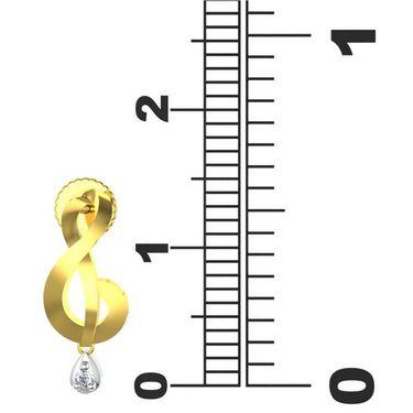 Avsar Real Gold and Swarovski Stone Divya Earrings_Tae030yb