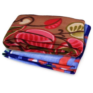 Storyathome Pack of 2 Designer Printed Double Fleece Blanket-CA1210-CA1208