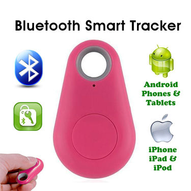 Gadget Hero's iTag Bluetooth Tracer Anti-Lost Alarm Remote Shutter Voice Recorder GPS Tracker Pink Key Finder Locator Alarm For IOS iPhone Android - Pink