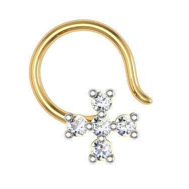 Avsar Real Gold & Swarovski Stone Kashmir Nose Pin_Av07yb