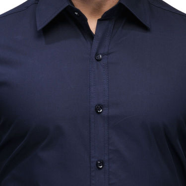 Full Sleeves Cotton Shirt_nbsht - Navy