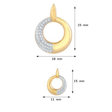 Mahi Gold Plated CZ Pendant Set_Nl1103545g