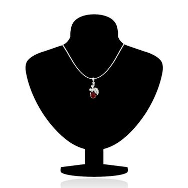 Mahi Rhodium Plated Swarovski Elements Pendant Set_Nl1104107rred