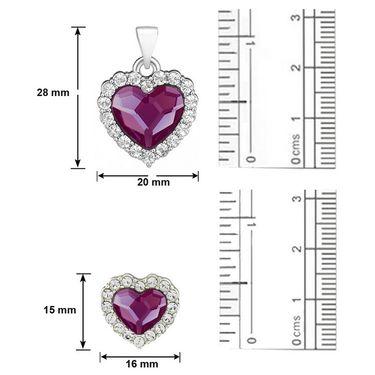 Mahi Rhodium Plated Swarovski Elements Pendant Set_Nl1104118rpur