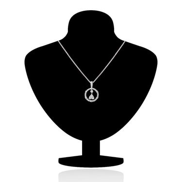 Mahi Rhodium Plated Swarovski Zirconia Pendant Set_Nl3101015c